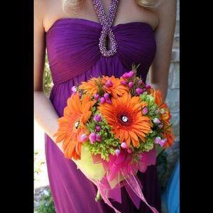 Aidan Mattox Purple Evening Dress